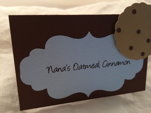 party label for cookies