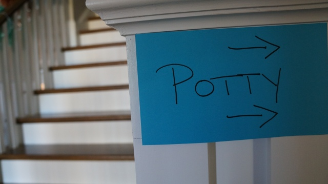 "Always need a ""Potty"" sign :-)"